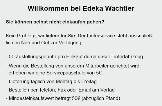 Lieferservice aus  Neuweiler, Altensteig, Simmersfeld, Grömbach, Egenhausen, Wörnersberg, Neubulach oder Ebhausen, Enzklösterle, Bad Teinach-Zavelstein